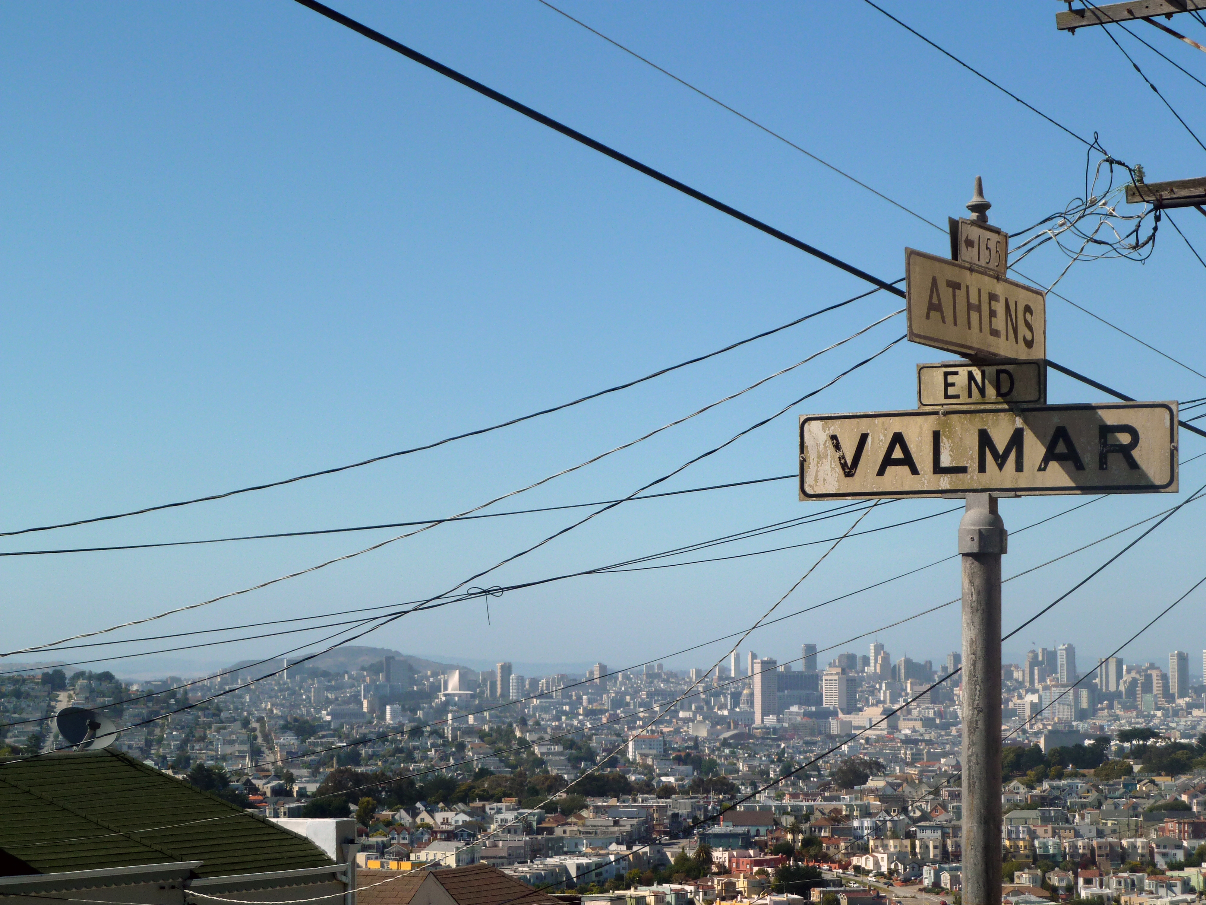 See this winning view of downtown San Francisco from the heights of the Excelsior District.  (photo by D. Speredelozzi)
