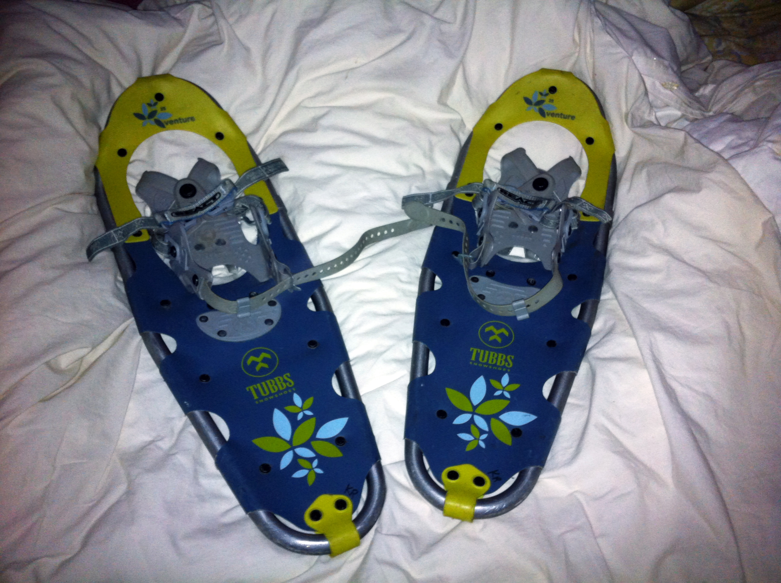 These snowshoes shall bear me across the snowy frozen wastes of the Desolation Wilderness this coming weekend, else come to utter ruin in the attempt.  (photo by D. Speredelozzi)