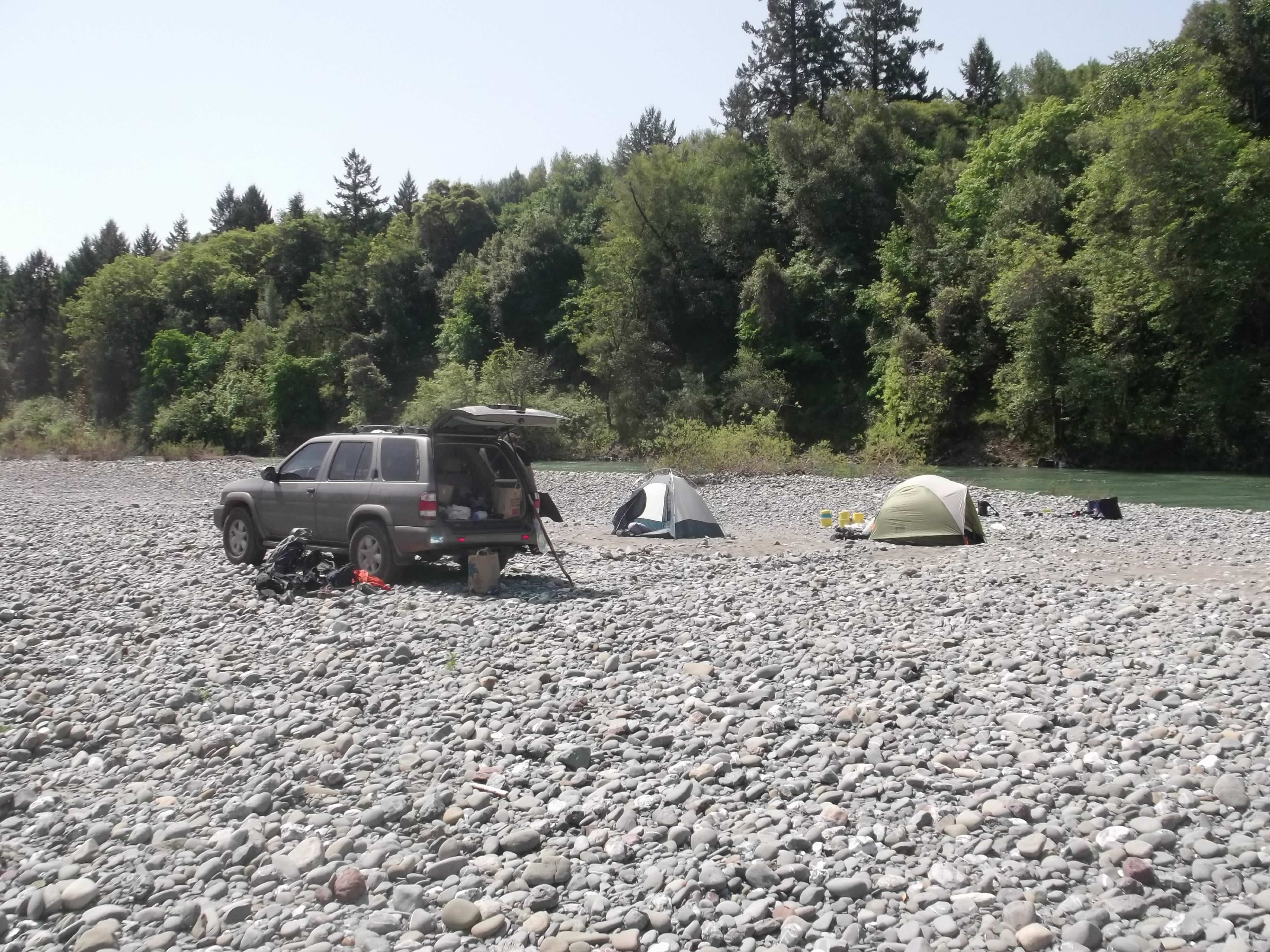 Eel River camp. (photo by D. Speredelozzi)