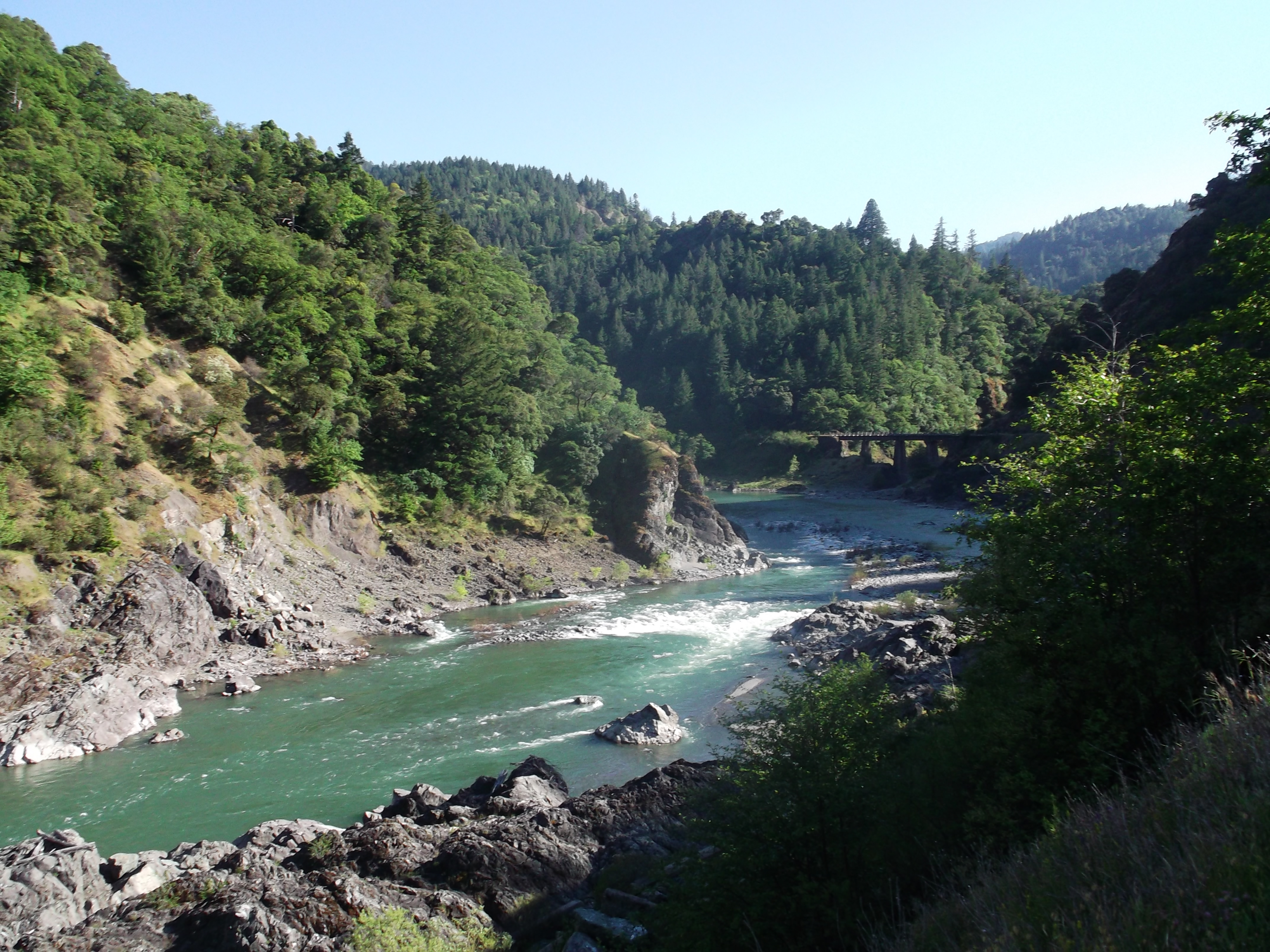 The Eel River, at Blue Rock Creek, Mendocino County. (photo by D. Speredelozzi)