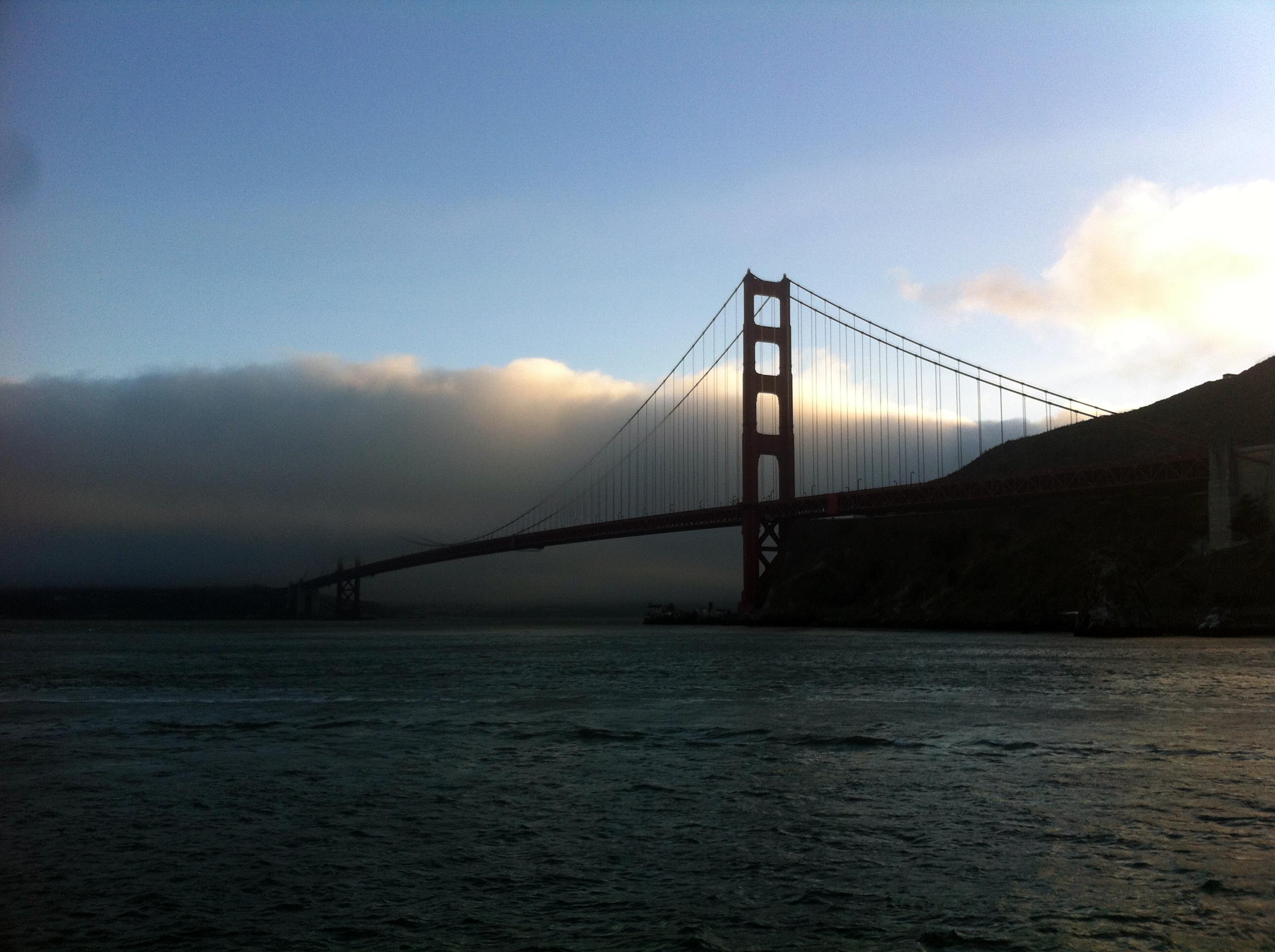 The Golden Gate Bridge bears northbound travelers out of San Francisco and into...? (photo by D. Speredelozzi)