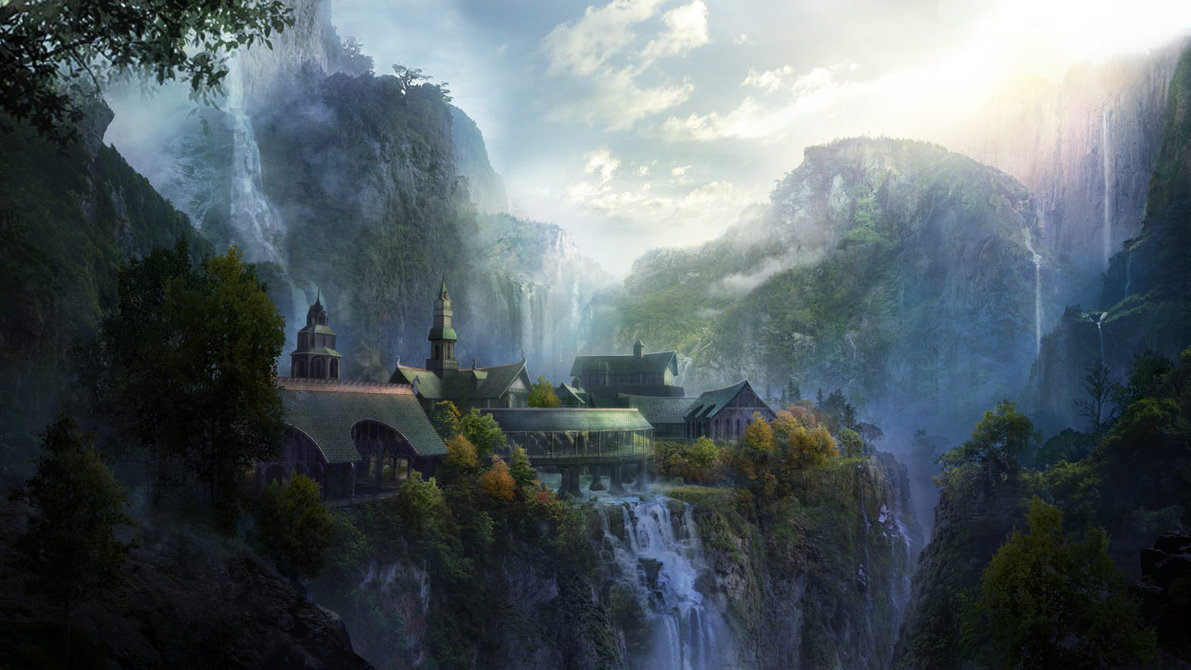 Not lightly do the waters of Rivendell fall. (image property of philipstraub.deviantart.com)