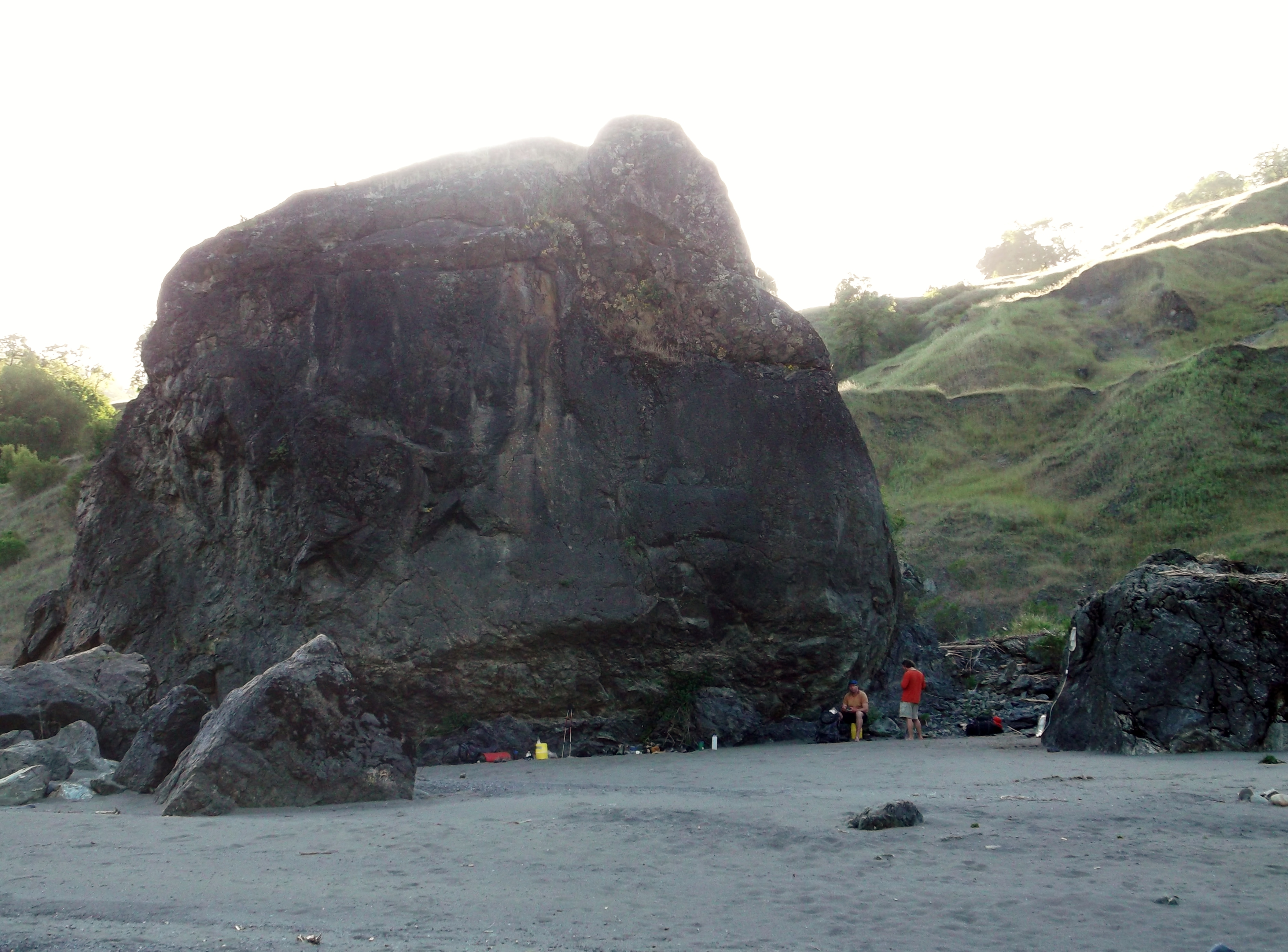 See if you can find the big black rock in this photograph. (photo by D. Sperededelozzi)