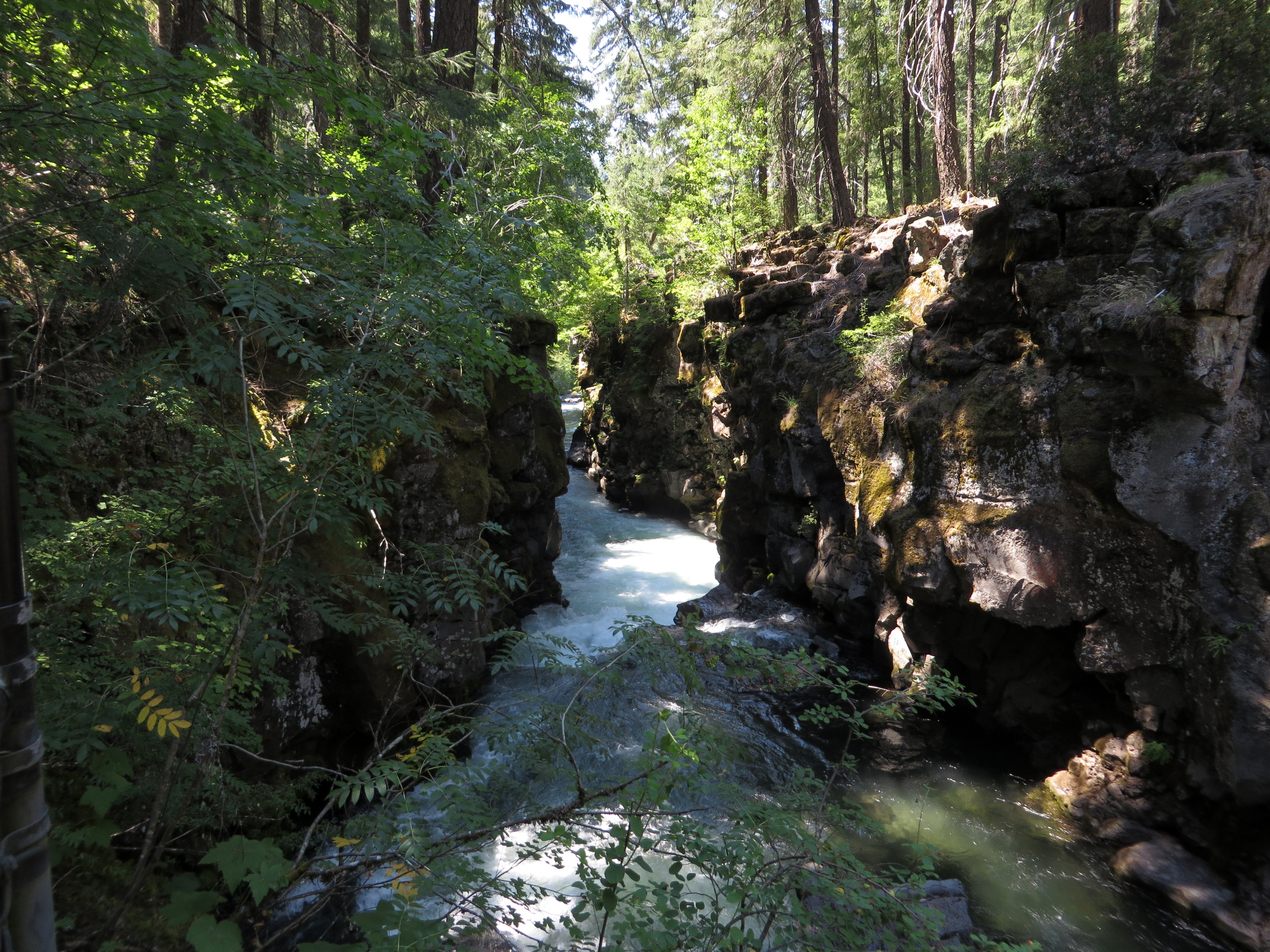 The lower stretch of the Rogue River Gorge. (photo by D. Speredelozzi)
