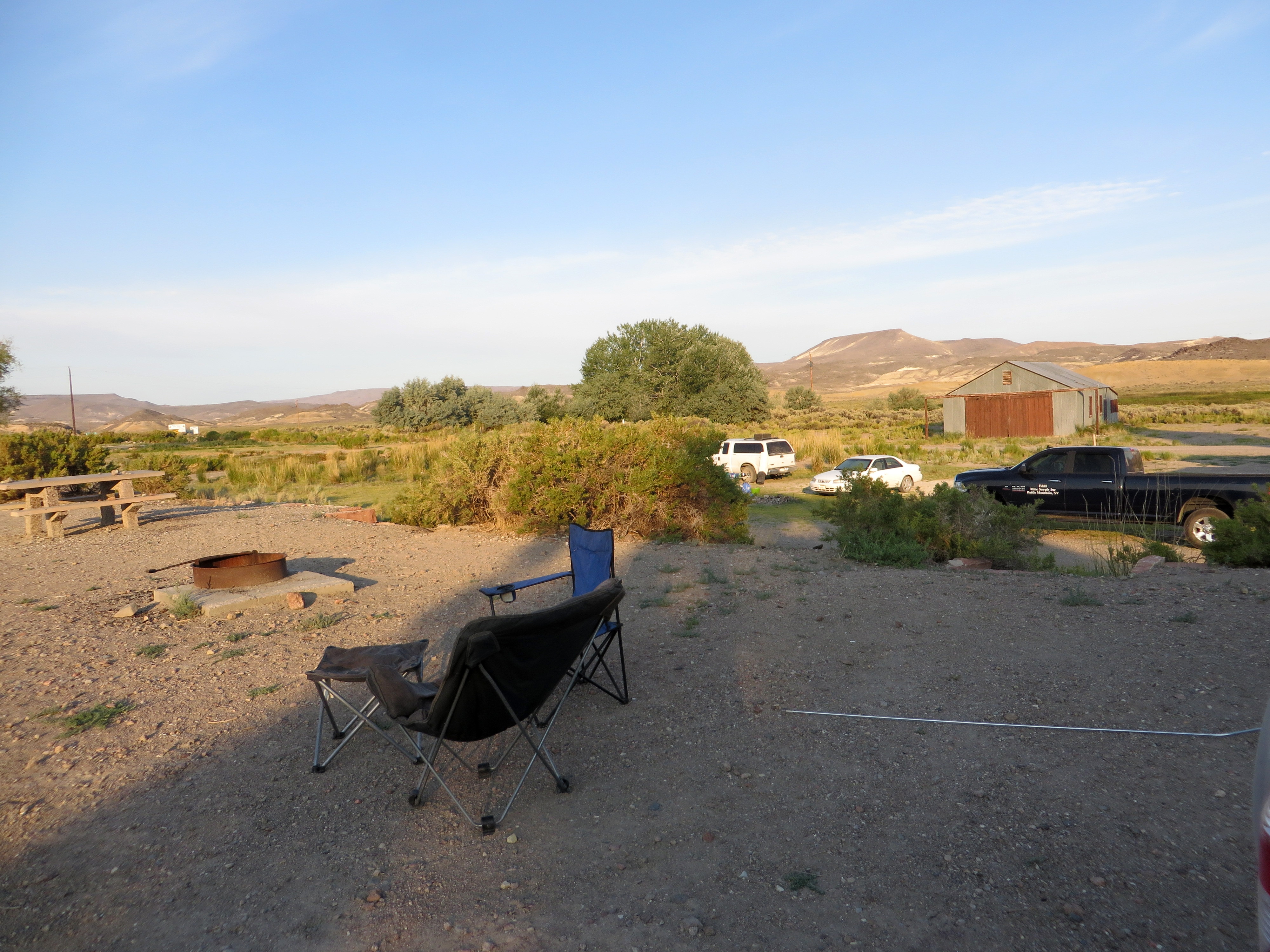 """Check out what Nevada calls a """"campsite"""". (photo by D. Speredelozzi)"""