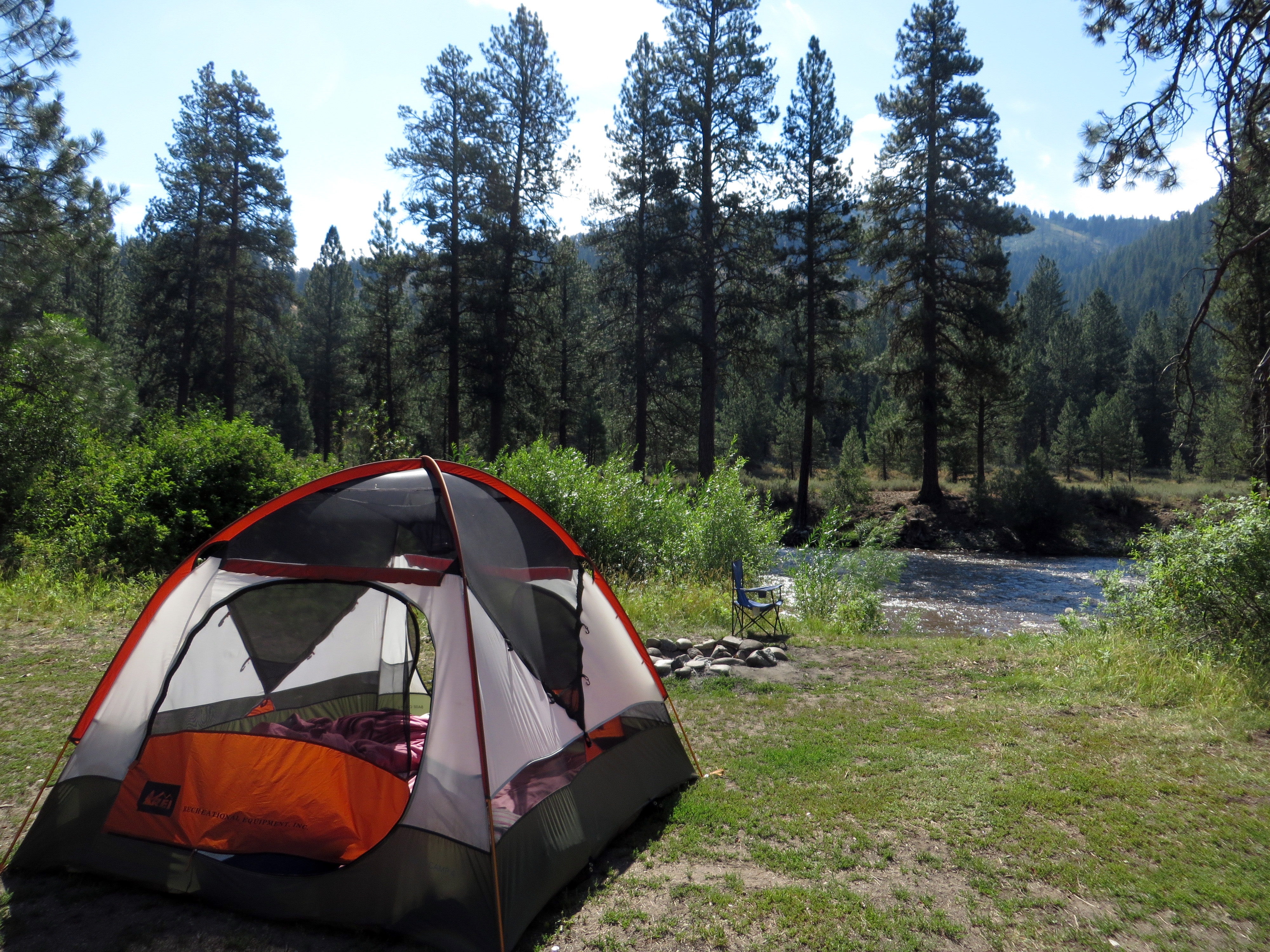 Collapsing Mountain Camp South Fork Boise River, Boise National Forest, ID July 30 (photo by D. Speredelozzi)