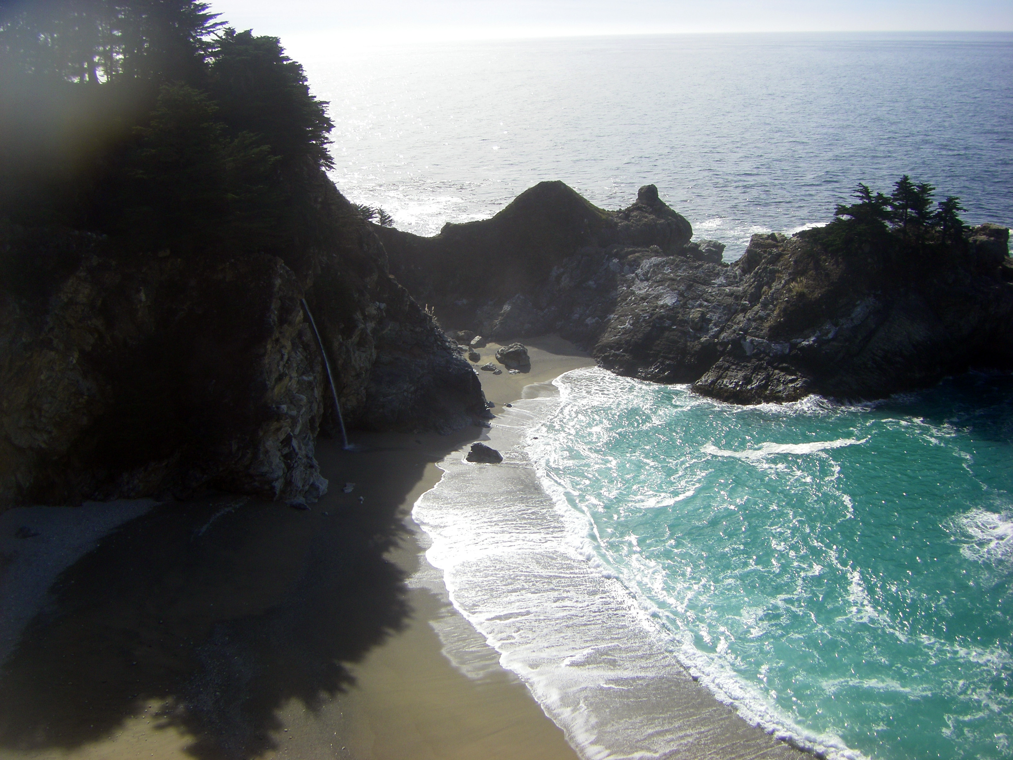 McWay Falls, Big Sur:  aside from Alamere Falls, the only other tidefall in North America. (photo by D. Speredelozzi)