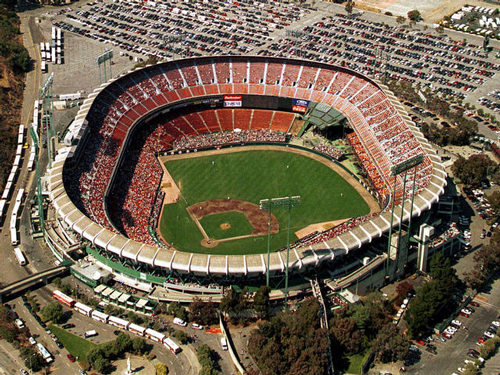 Candlestick Park on a baseball game day. (image property of daviddhovey.com)