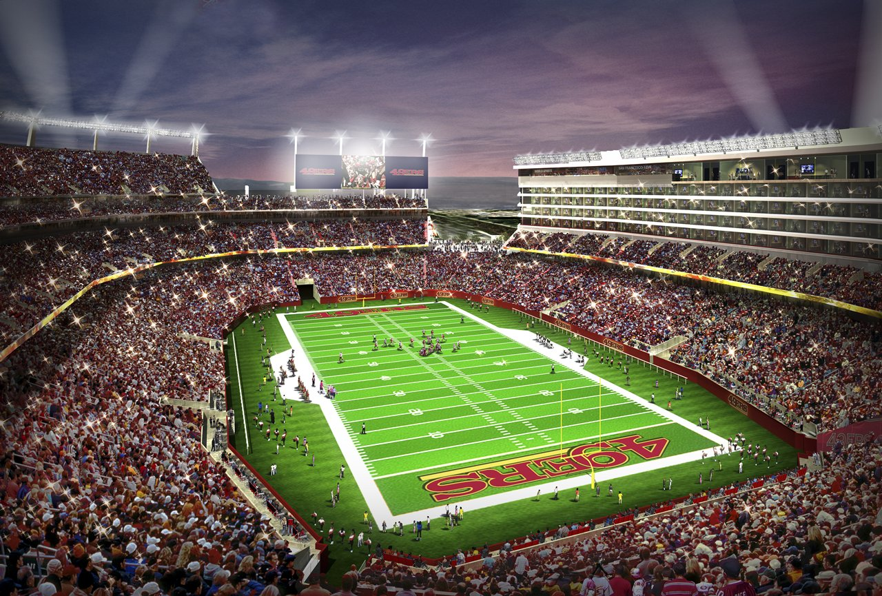 The all new, soul-less home of the 49ers, Levi's Stadium.  Phhbbbtt (photo property of www.49ers.com)