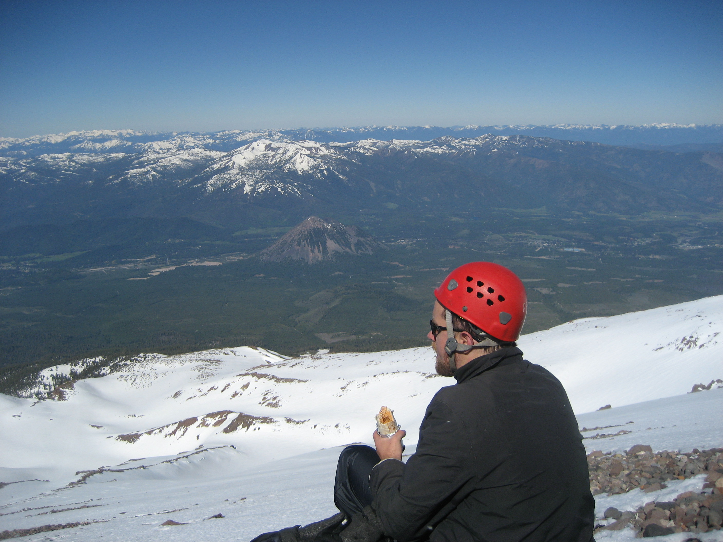 About to descend Mt. Shasta (not from the summit), 2010. (photo by D. Speredelozzi)
