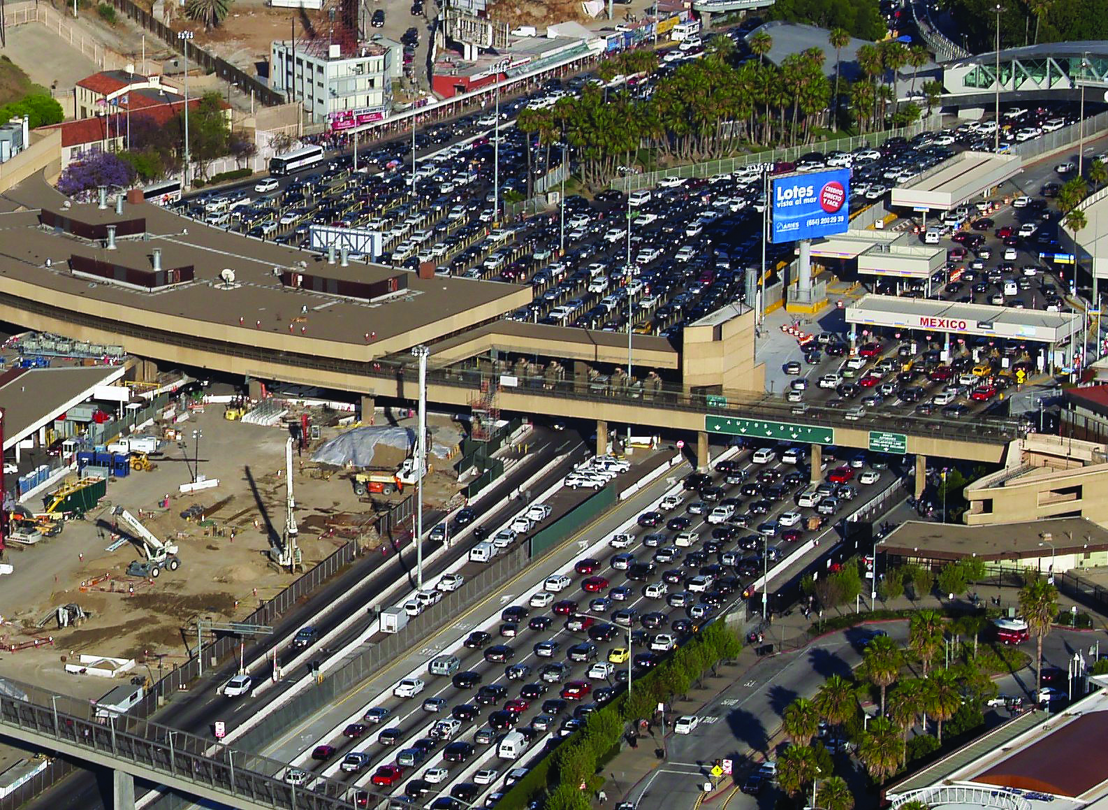 San Ysidro Point of Entry- The world's busiest land border crossing. (photo by Phil Konstantin)