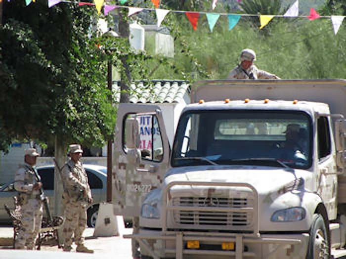 One of many Military Checkpoints we would encounter while in Mexico. (photo by Martina)
