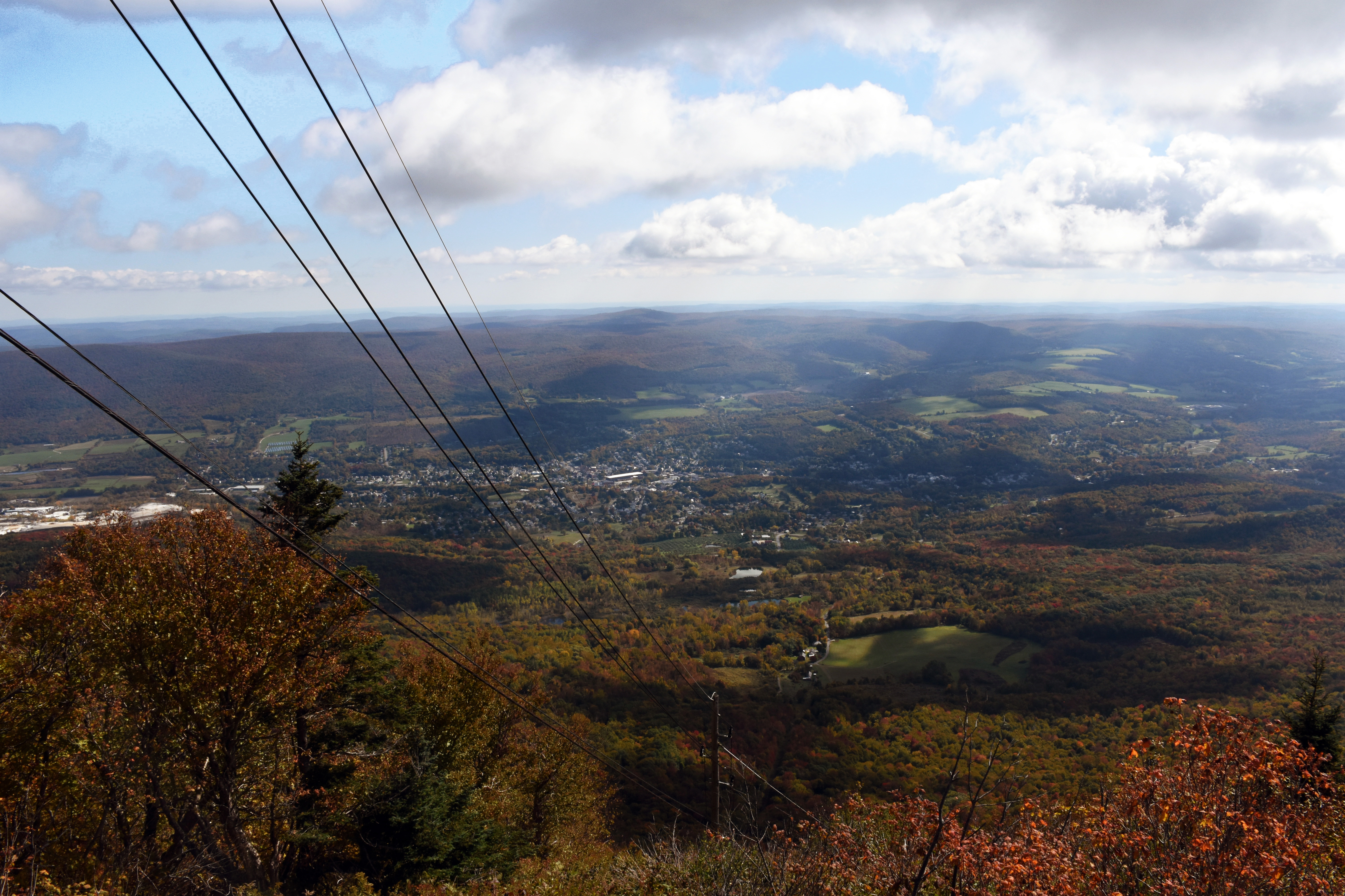 Adams, MA, from Mt. Greylock. Back in the early 90s, my friend Jeff and I used to write songs at this spot in the middle of the night. On drugs. (photo by D. Speredelozzi)