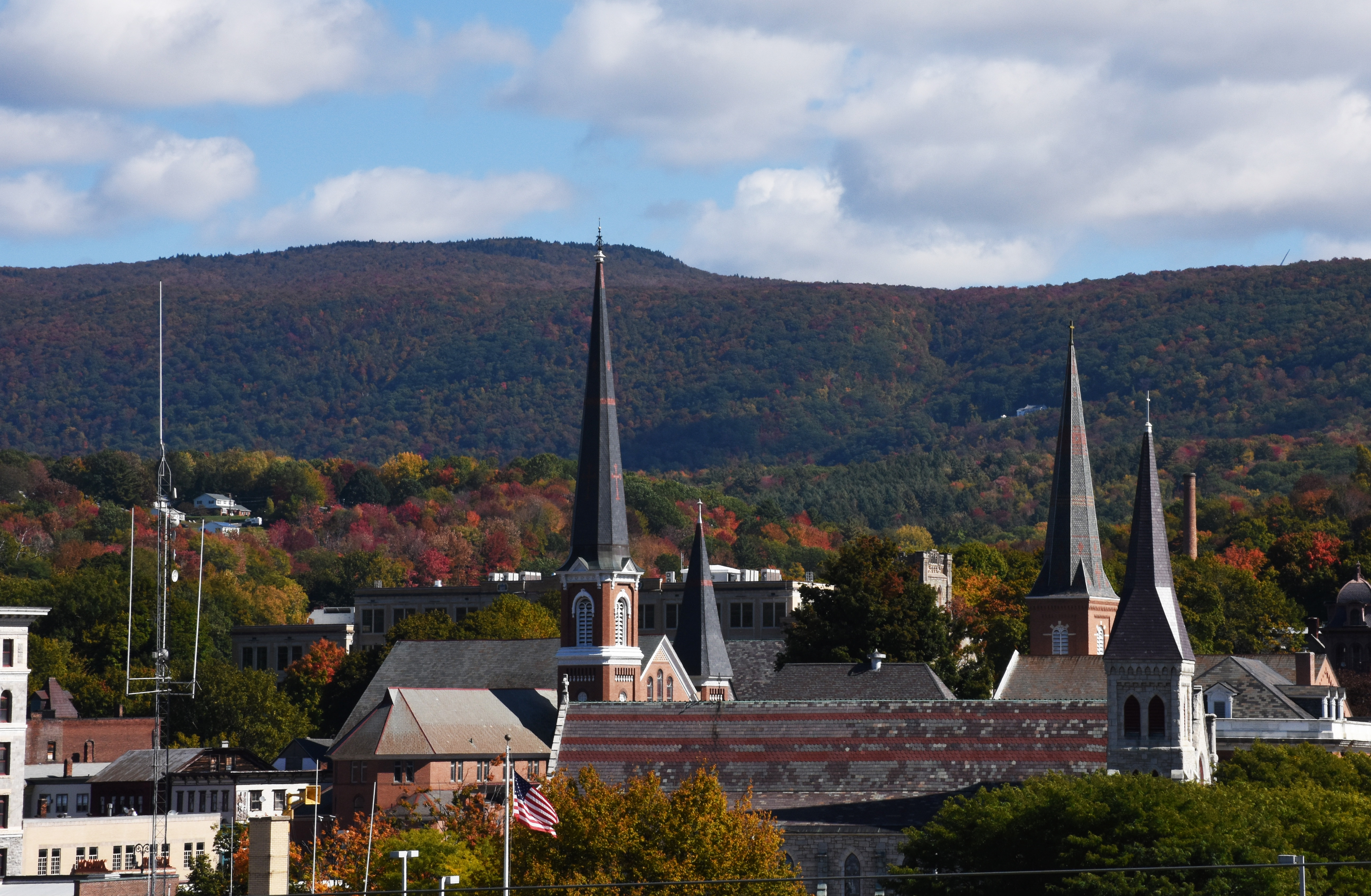 North Adams, acting like it's in Vermont. (photo by D. Speredelozzi)