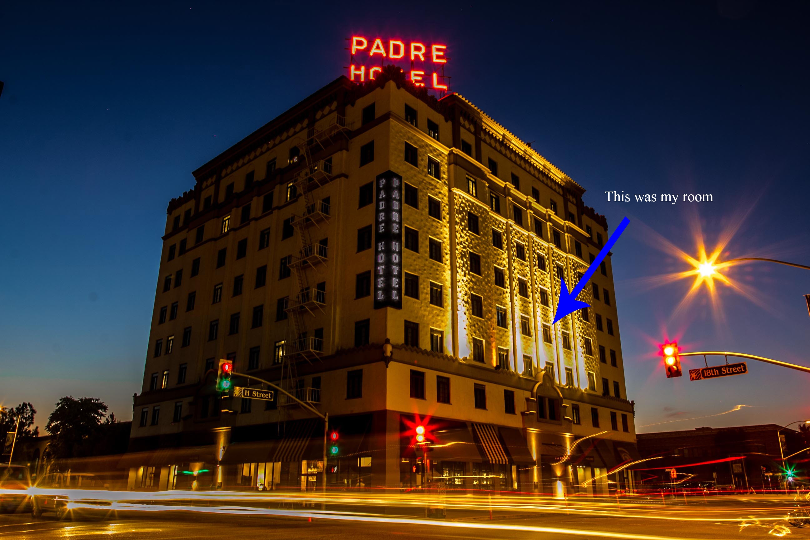 Apparently the Padre Hotel didn't get the memo. It seems to think Bakersfield is a real city. (image by imsohideous.wordpress.com)
