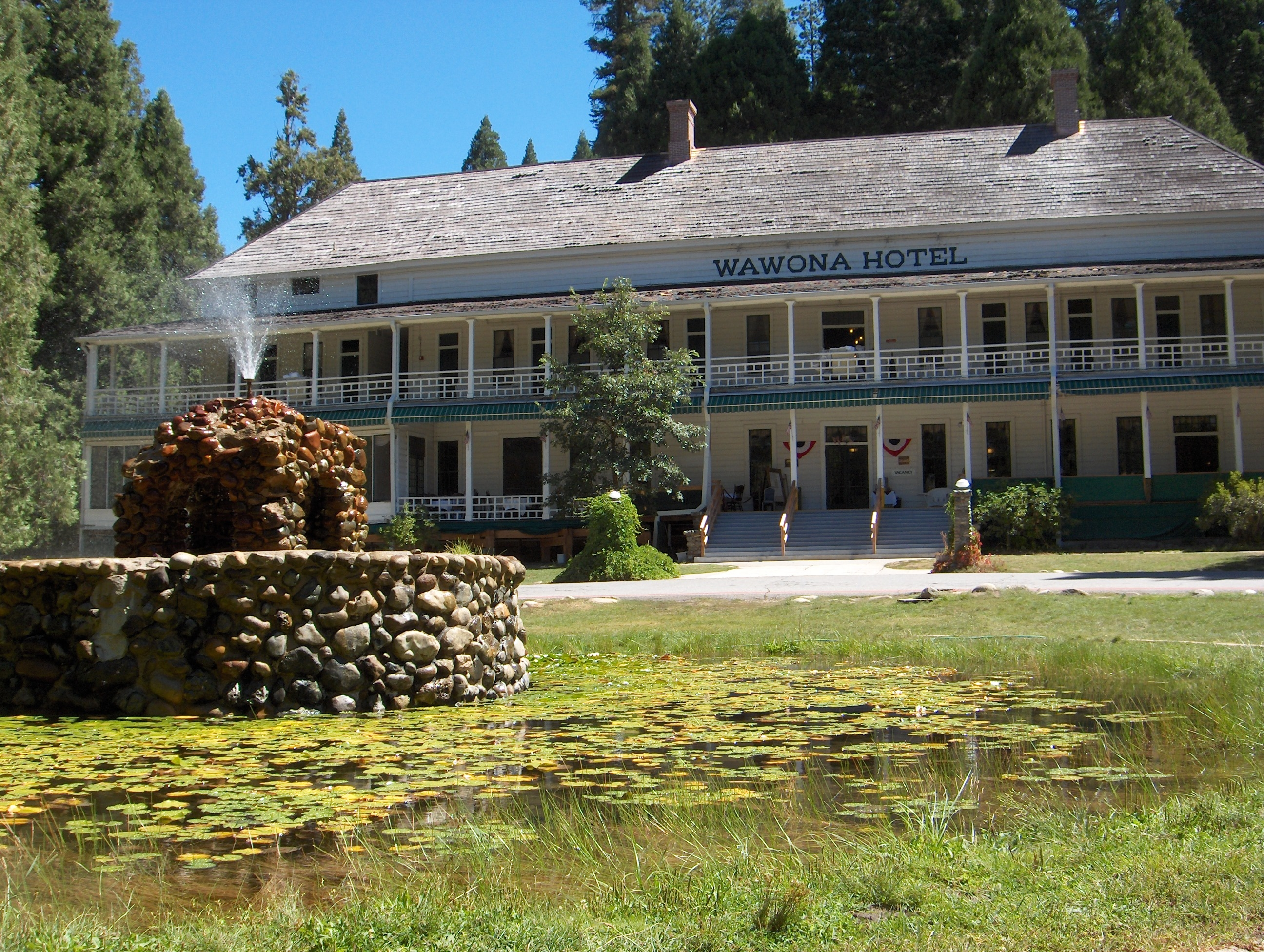 The soon-to-be renamed Wawona Hotel, near the park's south entrance. (image by Wikimedia Commons)