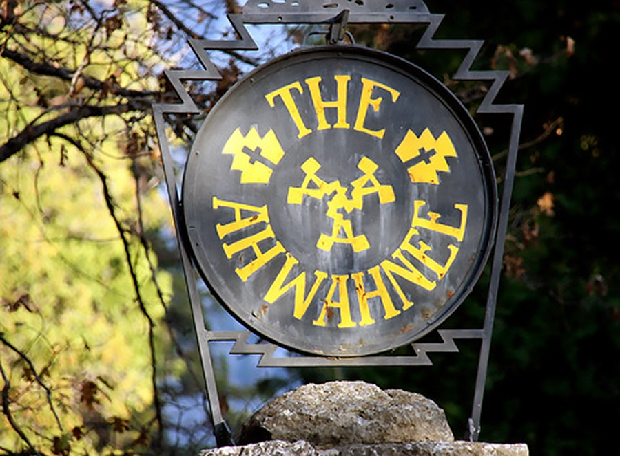 Apparently, some rightfully disgruntled park-lovers stole the iconic sign at the Awhanee Hotel over this past weekend. But the joke's on them, because this sign now as no value. (image by www.examiner.com)