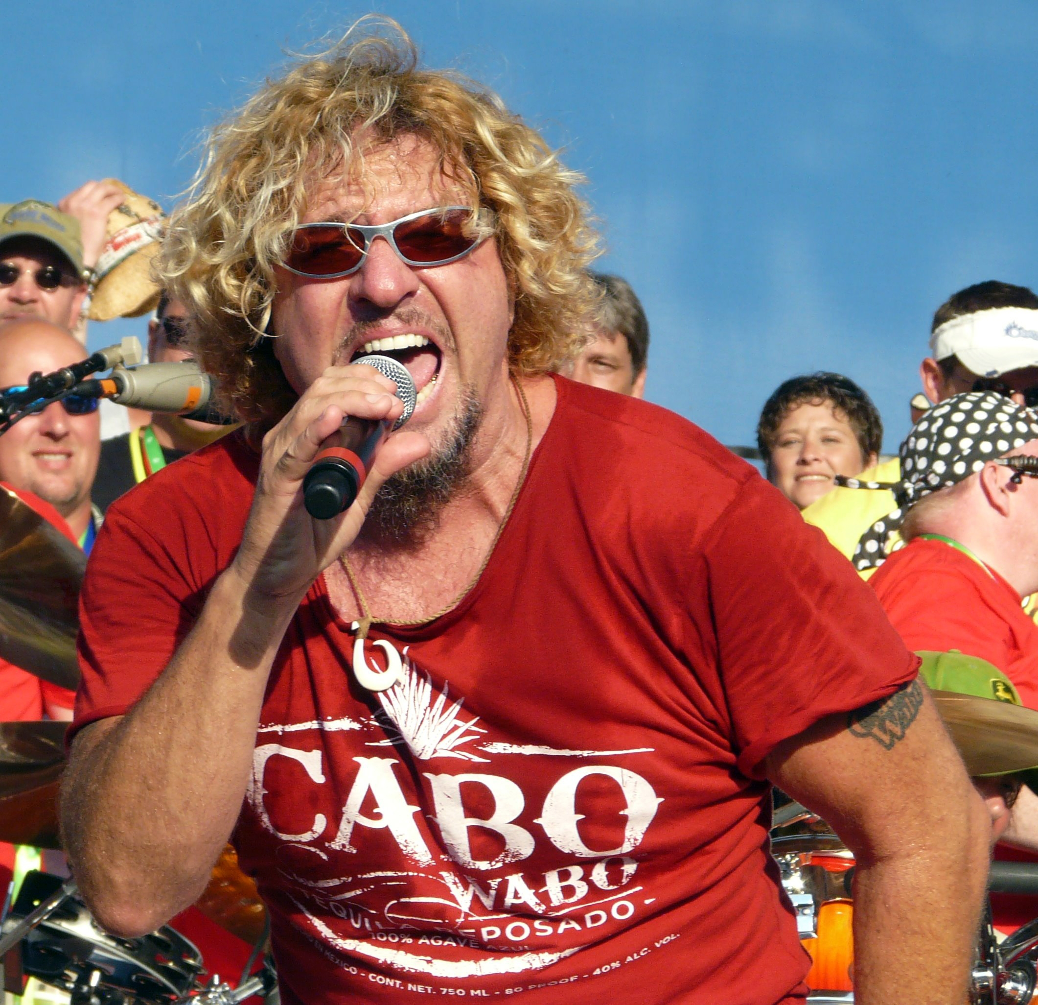 "Hi, my name is Sammy Hagar. Hold on, now... hear me out. Okay now look, I know you're already thinking it, so let me just put it out there right now to get it out of the way. Okay so like, to a certain extent (and in limited contexts), I can rock out with the best of them; but still somehow, no matter what I do, I just can't seem to crack that top tier. I guess I'm what you might call a ""B Rocker."" HA!!! And furthermore- 5150 was no 1984- not even close. I recognize that. People think I'm deluded about that, but I'm not. They also think I'm deluded as to the importance- to rock history, that is- of my tenure in Van Halen; but in that case, they're right- I AM. It feels good to share, to tell you the truth. I've been carrying this shit around for years.Man, I feel lighter already. (image by Wikimedia Commons)"